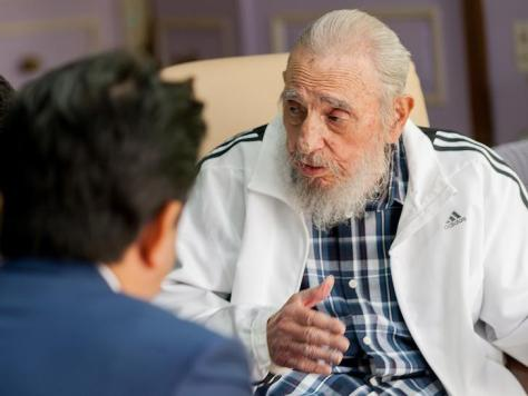 Cuba's former President Fidel Castro Havana, Cuba, September 22, 2016, in this handout photo provided by Cubadebate. Alex Castro/Cubadebate/Handout via Reuters/Files