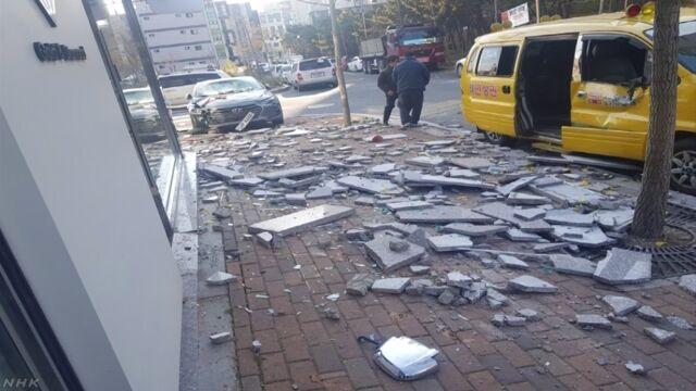 韓国南部でマグニチュード5.4の地震 4人けが