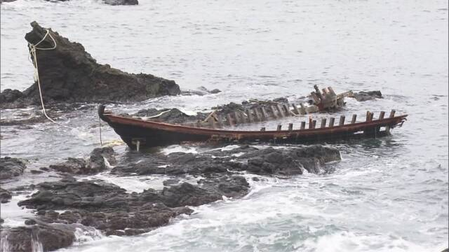 木造船漂着 沿岸自治体から処分費用の支援求める声