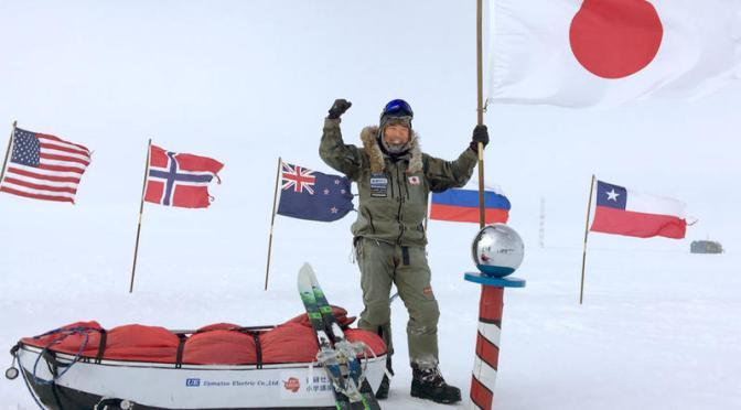 無補給単独で南極点到達 冒険家の荻田泰永さん、日本人初