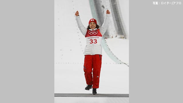 高梨が銅メダル ジャンプ女子