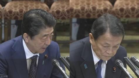 「森友」安倍首相と麻生財務相 ともに「書き換え指示せず」