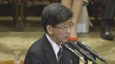佐川氏 首相答弁受け「私の答弁変えていない」