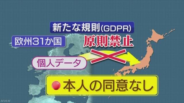 EU個人情報保護規制施行 巨額の課徴金も 日本企業は注意を | NHKニュース