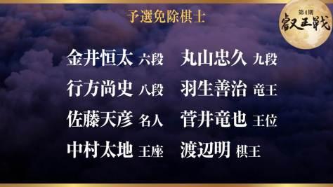 第4期 叡王戦 予選免除棋士