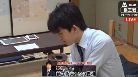 藤井聡太七段、昇段後初勝利で挑決T進出決定 高校進学後の連勝も「6」に