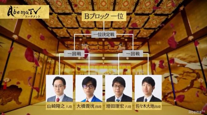 優勝候補の一角、山崎隆之八段が1位通過予想トップの58%/AbemaTVトーナメント予選Bブロック | AbemaTIMES
