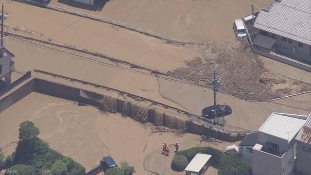 広島 府中町 榎川から町に水あふれる 周辺に避難指示