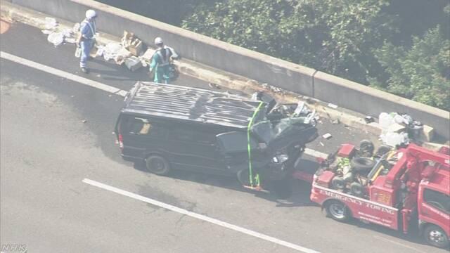 被災地に向かうボランティアの車が事故 山陽道が通行止め | NHKニュース