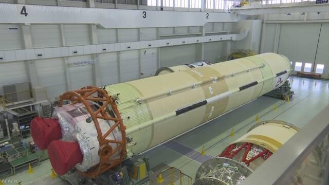 H2Bロケット7号機の機体が完成 9月に打ち上げ予定