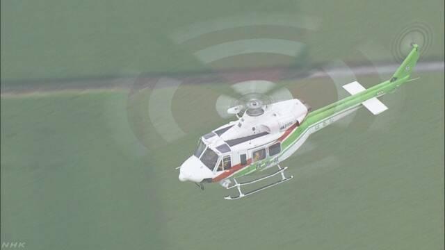 防災ヘリ墜落 高度維持し旋回後 斜面に衝突か