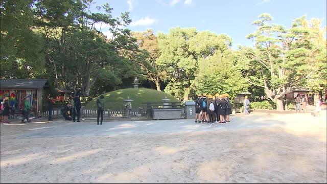 原爆供養塔の柵壊した男を現行犯逮捕 | 広島ニュースTSS