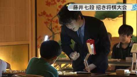 藤井七段招いて将棋大会