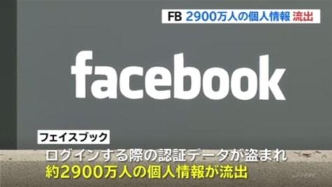 FB、サイバー攻撃で2900万人の情報流出と発表