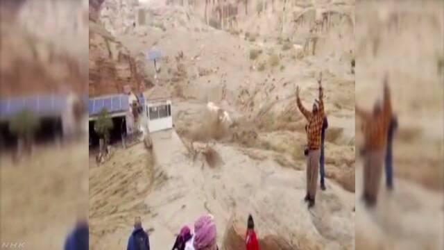 ヨルダンの遺跡で土石流 日本人観光客47人全員の無事確認 | NHKニュース