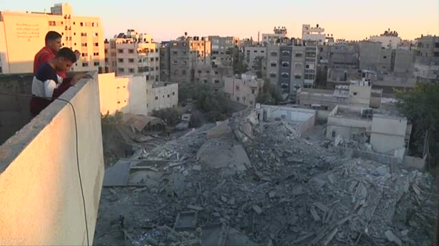 イスラエルとハマスの武力衝突 戦闘停止で事実上の合意
