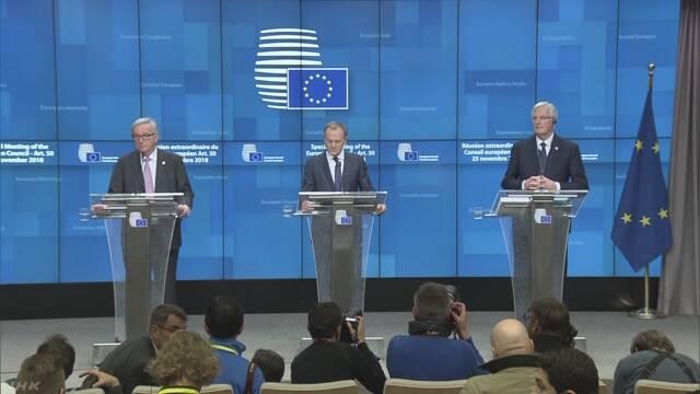 EUが離脱協定案など正式承認 英議会の承認は不透明
