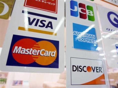 クレジットカードのステッカー(戸加里真司撮影)