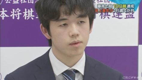 藤井七段 最年少で100勝達成‥プロ入り後2年2か月で最速 勝率も最高