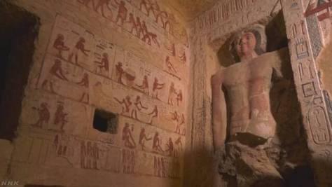"""エジプトで""""ファラオに仕えた神官の墓発見"""" 床下に穴も"""