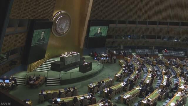 拉致被害者の即時帰還求める決議 圧倒的支持で採択 国連総会