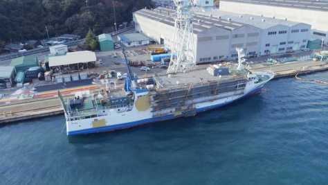 STU48の新曲「出航」のMV撮影が行われた「船上劇場 STU48号」(現在、改造中)