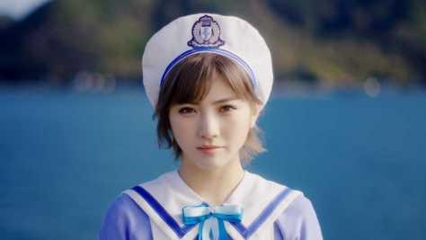 STU48の新曲「出航」のMVでセンターを務める岡田奈々