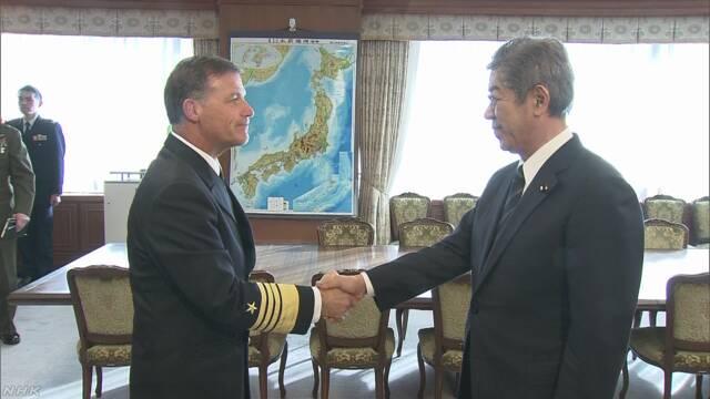 岩屋防衛相が米海軍司令官と会談「日韓関係 適切に対応」 | NHKニュース
