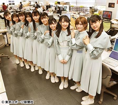 本社編集局に訪れたSTU48のメンバー