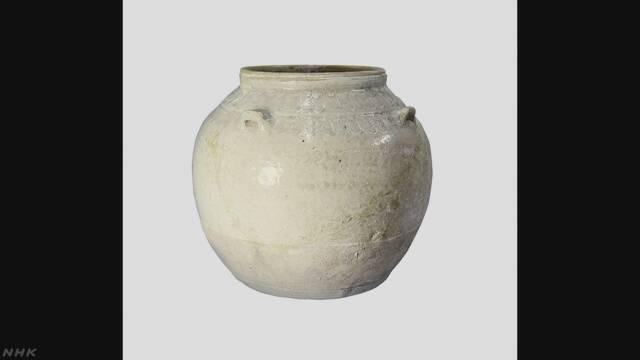 曹操の墓と見られる遺跡で出土のつぼ 最古の白磁か