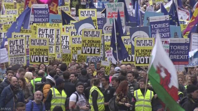 EU離脱めぐり再度の国民投票求めるデモ ロンドン | NHKニュース