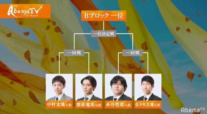 ファン予想は糸谷哲郎八段の1位通過が50% 12日に放送/AbemaTVトーナメント 予選Bブロック | AbemaTIMES