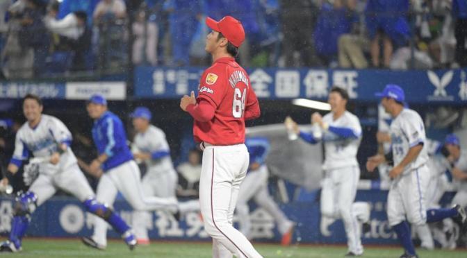 延長10回、宮崎にサヨナラ打を浴びがっくりの中村恭平