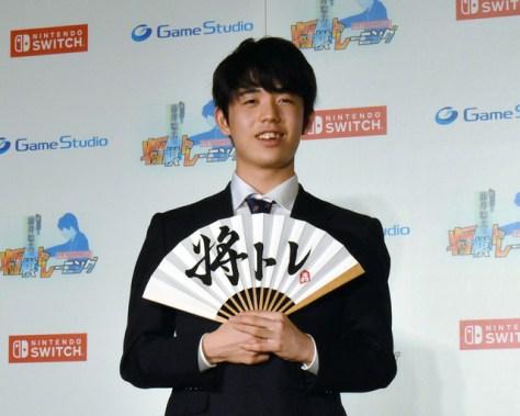 監修を務めたゲームソフトの記者発表に出席した藤井聡太七段=東京都港区