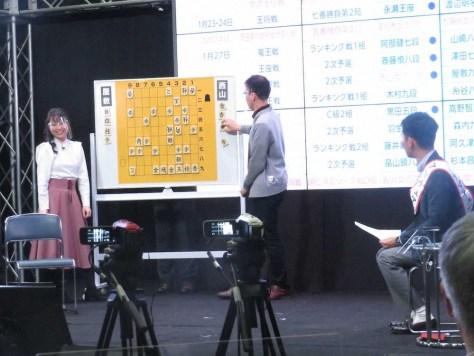 ネット将棋番組「WONDER将棋」に出演した(左から)武富礼衣女流初段、畠山鎮八段、森本尚太アナウンサー