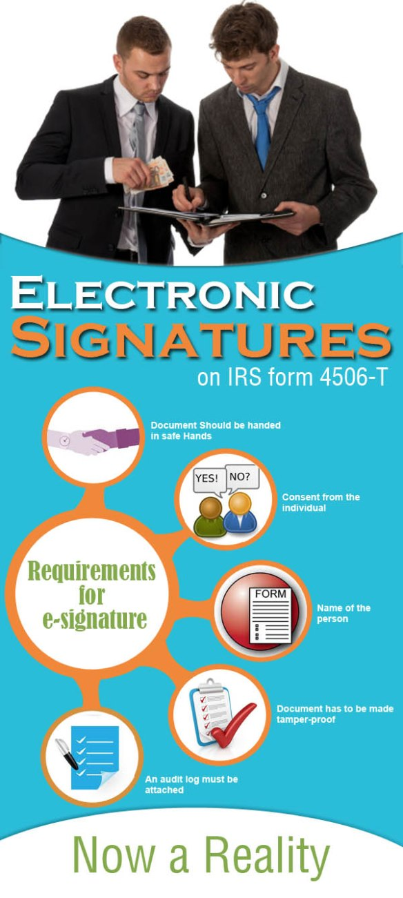 Electronic Signatures on IRS form 4506