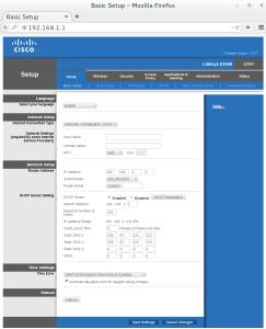 Router admin screen