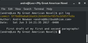 Git log results