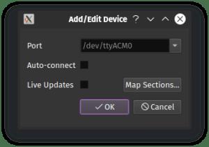 PixelMaestro add device dialog