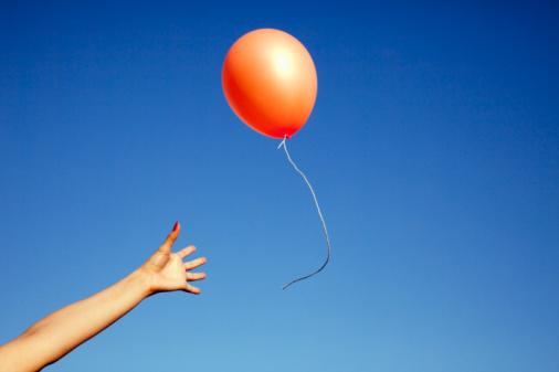 Een leeggelopen ballon