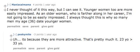Dating older women reddit