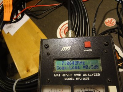 Coax loss with the MFJ256B