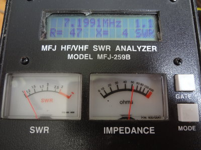 Measuring the antenna with the MFJ259B