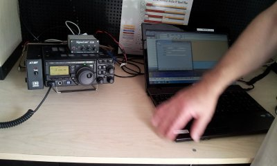 Radio set up for ARRL Rookie Roundup (RTTY) 2013
