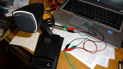 Temporary microphone wiring