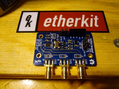 Etherkit Si5351 board using female connector pins