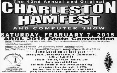 2015 Charleston Hamfest flyer