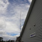 Antenna view from the side of the house