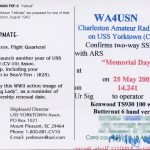 WA4USN QSL Card (Back)