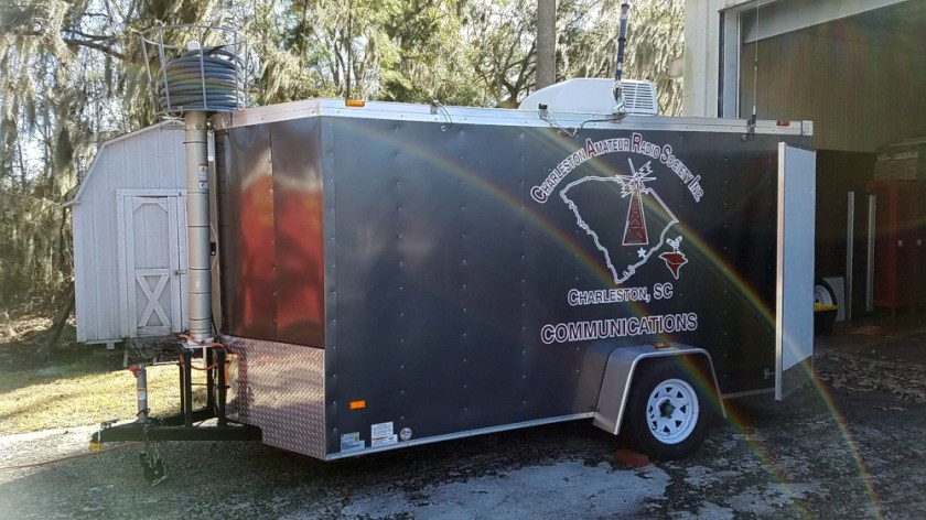 CARS Communications trailer ready for Winter Field Day 2019